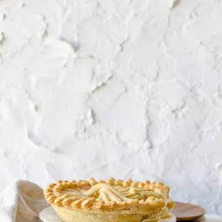 Apple Almond Pie with a Flaky Vegan Crust.