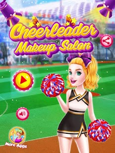 Cheerleader Girls Makeup - Be a Cricket Fan - náhled