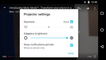 screenshot of Moto Mods Projector