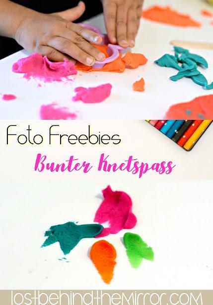 Foto Freebies - Kreativ mit Kindern - Bunter Knetspass