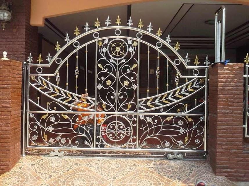 แบบประตูรั้วสแตนเลส ประตูบานเลื่อนขนาเล็ก