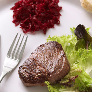 Filet Mignon with Roasted Beet Salsa