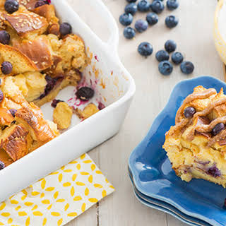 Blueberries and Cream French Toast Bake.