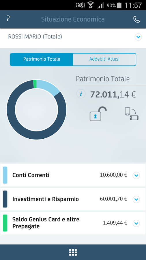 Mobile Banking UniCredit– captură de ecran