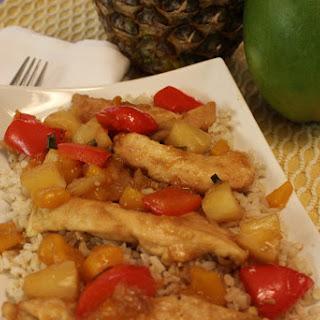 Pineapple Mango Chicken Stir Fry.