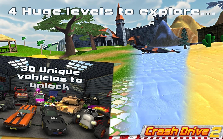 Crash Drive 2: Racing 3D Game - screenshot