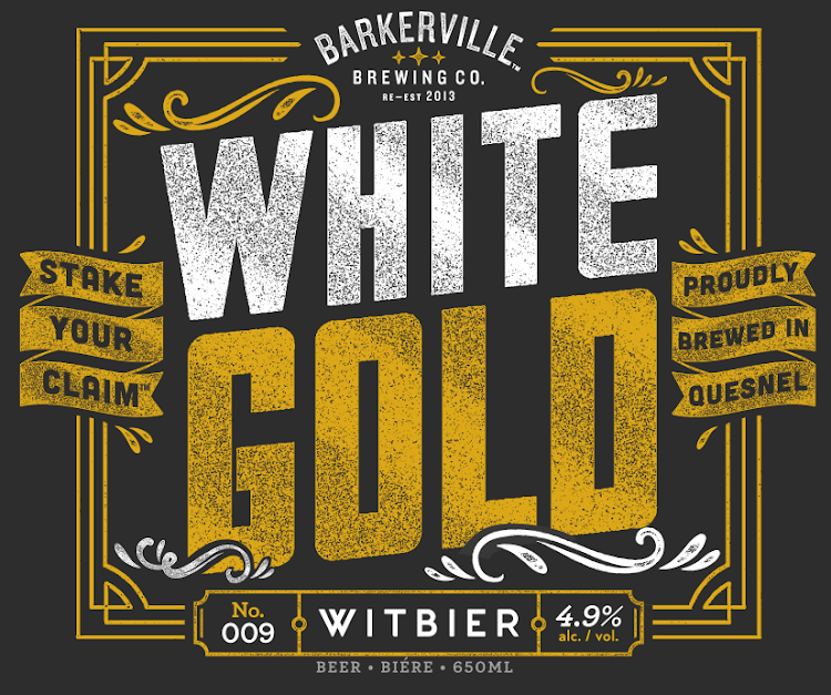 Logo of Barkerville Brewing Co. White Gold Witbier