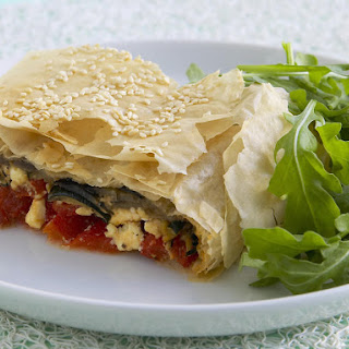 Mediterranean Vegetable and Feta Strudel