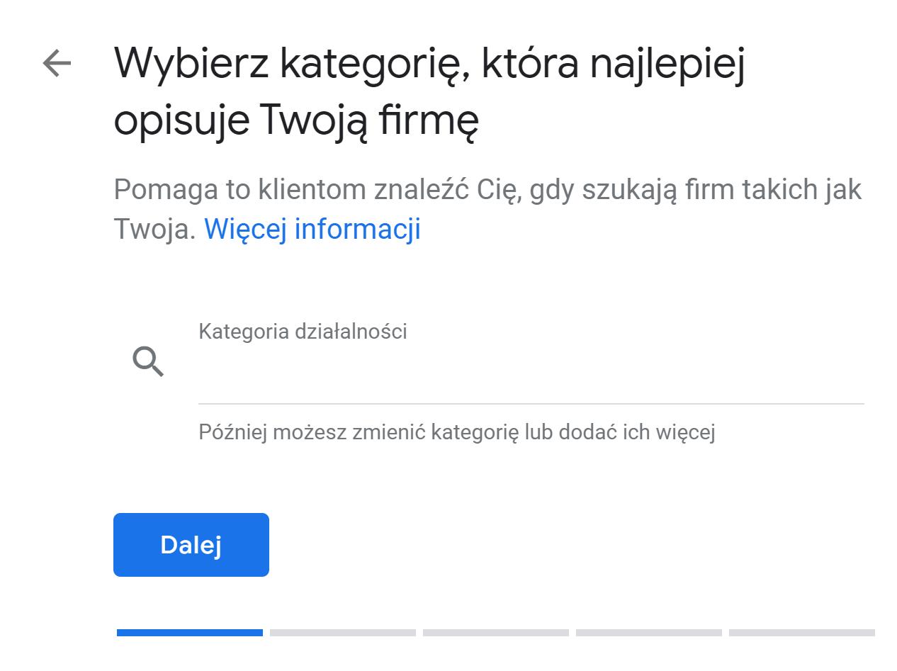 zakładanie wizytówki google maps