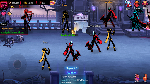 League of Stickman 2-Online Fighting RPG 1.2.7 screenshots 23