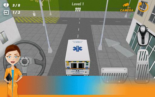 구급차 주차 3D