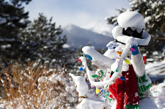 Photo: Snowman greeting the guests!