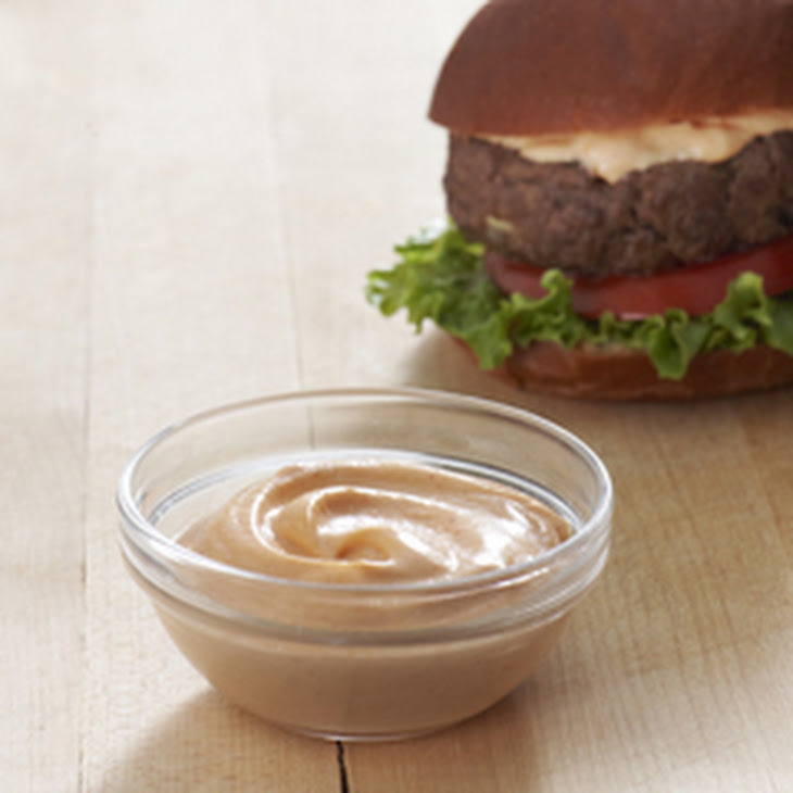 Best Ever Juicy Burger with Creamy Sriracha Sauce Recipe