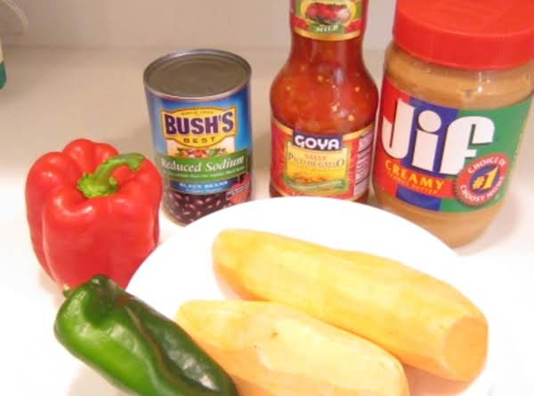Ingredients You Will Need For Peanut Butter, Sweet Potatoe & Chicken Soup