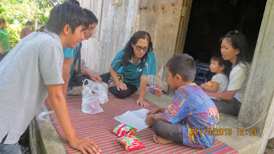 Photo: Chom Keeree:  Home care visit to Pitoon and family.