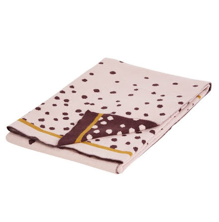 Dony By Deer Stickad Filt, Happy Dots, Powder