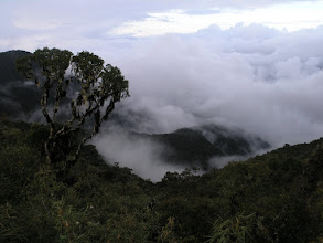 Photo: Hiking down into the clouds