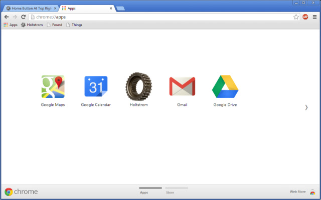 New Tab As Apps