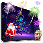 Christmas Fireworks Wallpaper Icon