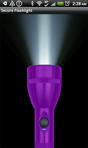 Secure Flashlight Purple