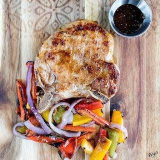 Grilled Pork Chops with Fig Honey Glaze.