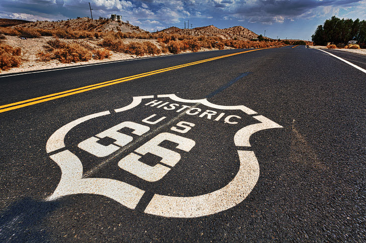 Route 66 (21 Great American Road Trips to Put on Your Bucket List.)