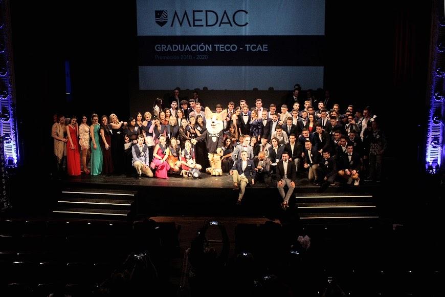 Acto académico de graduación de los alumnos de TECO y TCAE de MEDAC en sus centros de Almería y El Ejido.