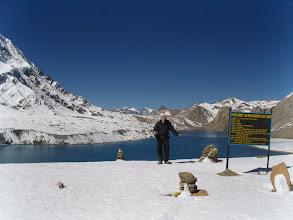 Photo: Après un sacré effort, le lac Tilicho quasi 5.000m, il n'y a pas de lac plus haut sur terre !