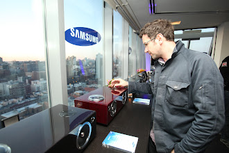 Photo: Samsung DA-E750 Audio Dock at the Samsung Audio launch event in NYC.   http://www.samsung.com/us