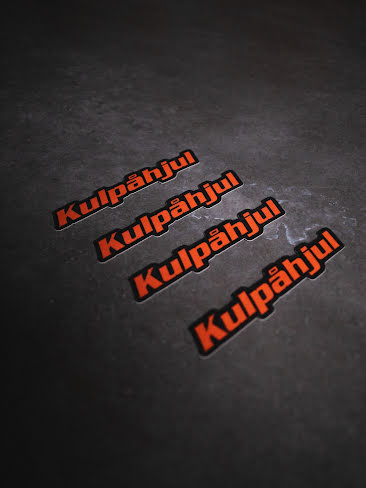 KULPÅHJUL STICKER ORANGE 4 PACK