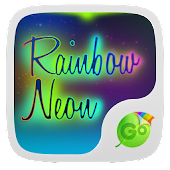Rainbow Neon GO Keyboard Theme