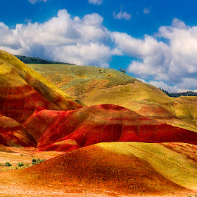 Painted Hills by Dennis Mai - Landscapes Mountains & Hills ( oregon, john day, painted hills )