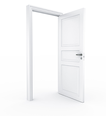 Plain White door