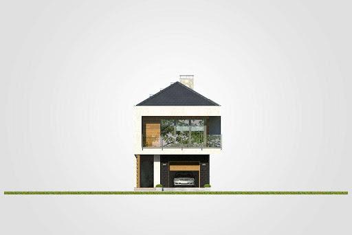 Modern House II - Elewacja przednia