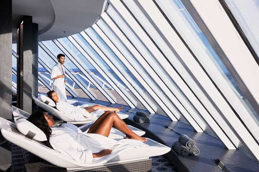 The 22,000-square-foot Spa on Celebrity Edge series ships offers a thermal suite with eight distinct spaces.