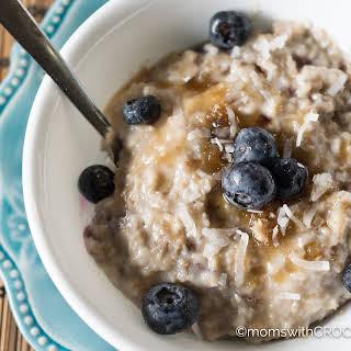 Crockpot Blueberry Oatmeal.