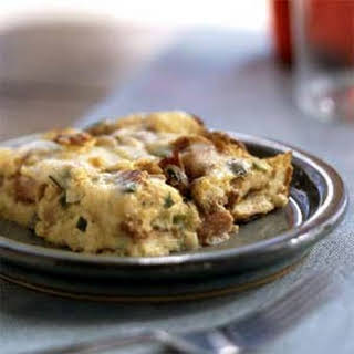 Ham and Swiss Bread Pudding.