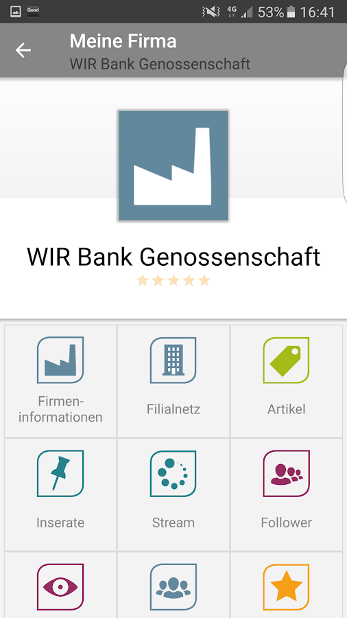 WIRmarket – Screenshot