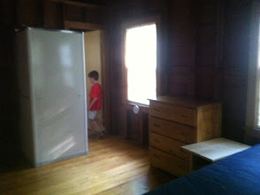 Photo: Bedroom area inside the Staff Building. In Cottington Woods, we may be using this as the main Monster Camp location.