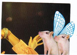 Photo: Wenchkin's Mail Art 366 - Day 121, card 121a
