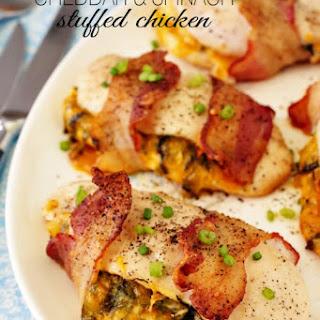 Cheddar & Spinach Stuffed Chicken.