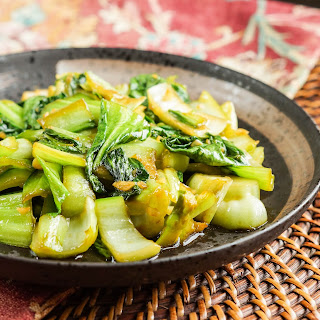 Baby Bok Choy with Ginger and Garlic.