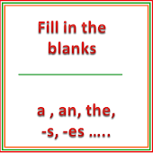 English Grammar for Kids - Fill in the blanks