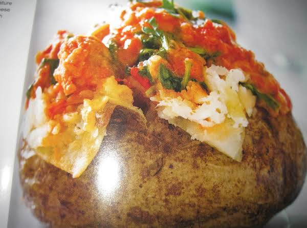 Baked Potato With Sausage And Arugula Recipe