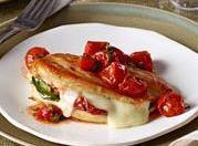 Mozzarella-basil Chicken With Roasted Tomatoes Recipe