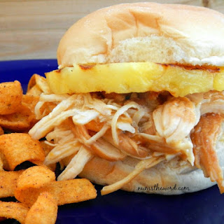 Pressure Cooker Polynesian Chicken Sandwich.