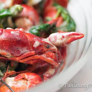 Crawfish in Coconut Milk with Spinach