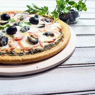 Basil Pesto & Tomato Pizza.