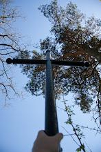 Photo: Jeden z dwóch krzyży na zamkniętym cmentarzu w okolicach  Porytego.