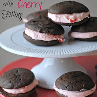 Chocolate Whoopie Pies with Cherry Filling.